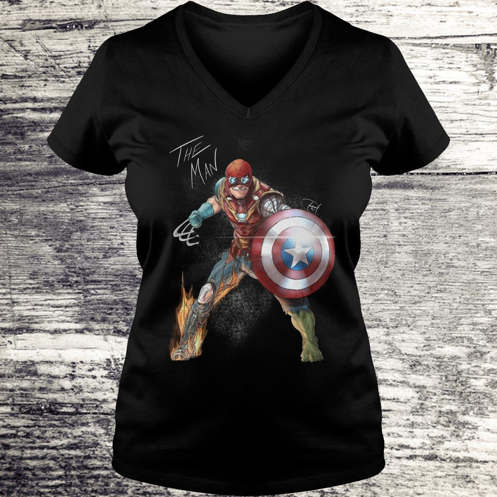 Official Stan Lee One with his universe shirt Ladies V-Neck