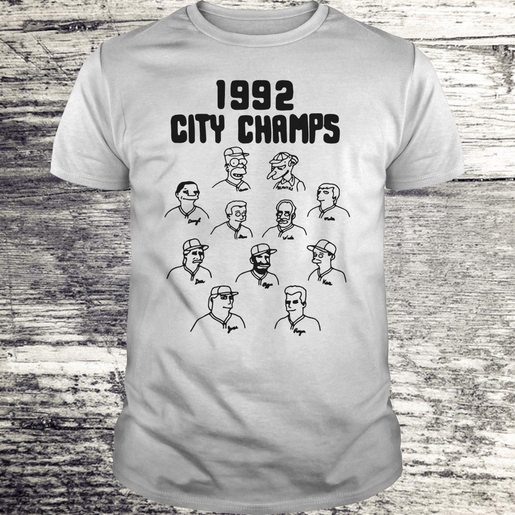 Official Vintage The Simpsons 1992 city champs shirt Classic Guys / Unisex Tee