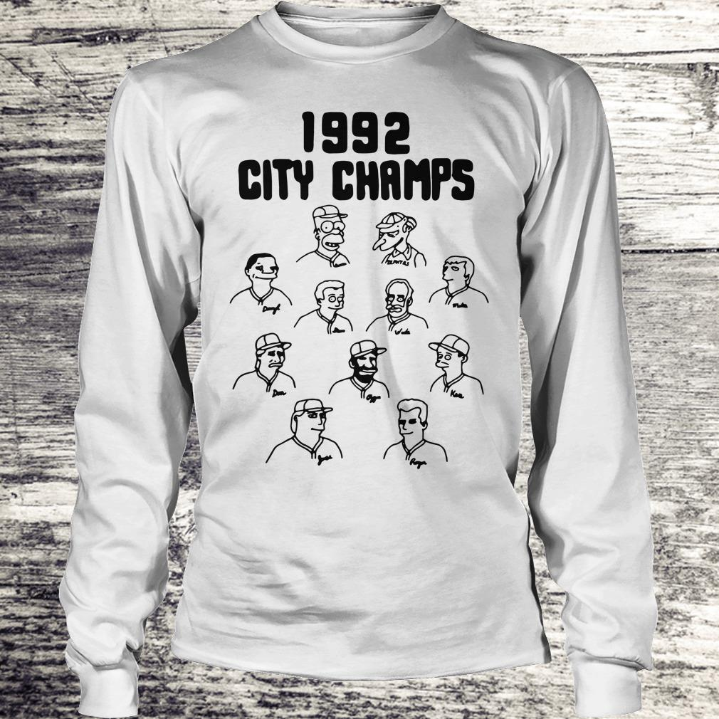 Official Vintage The Simpsons 1992 city champs shirt Longsleeve Tee Unisex