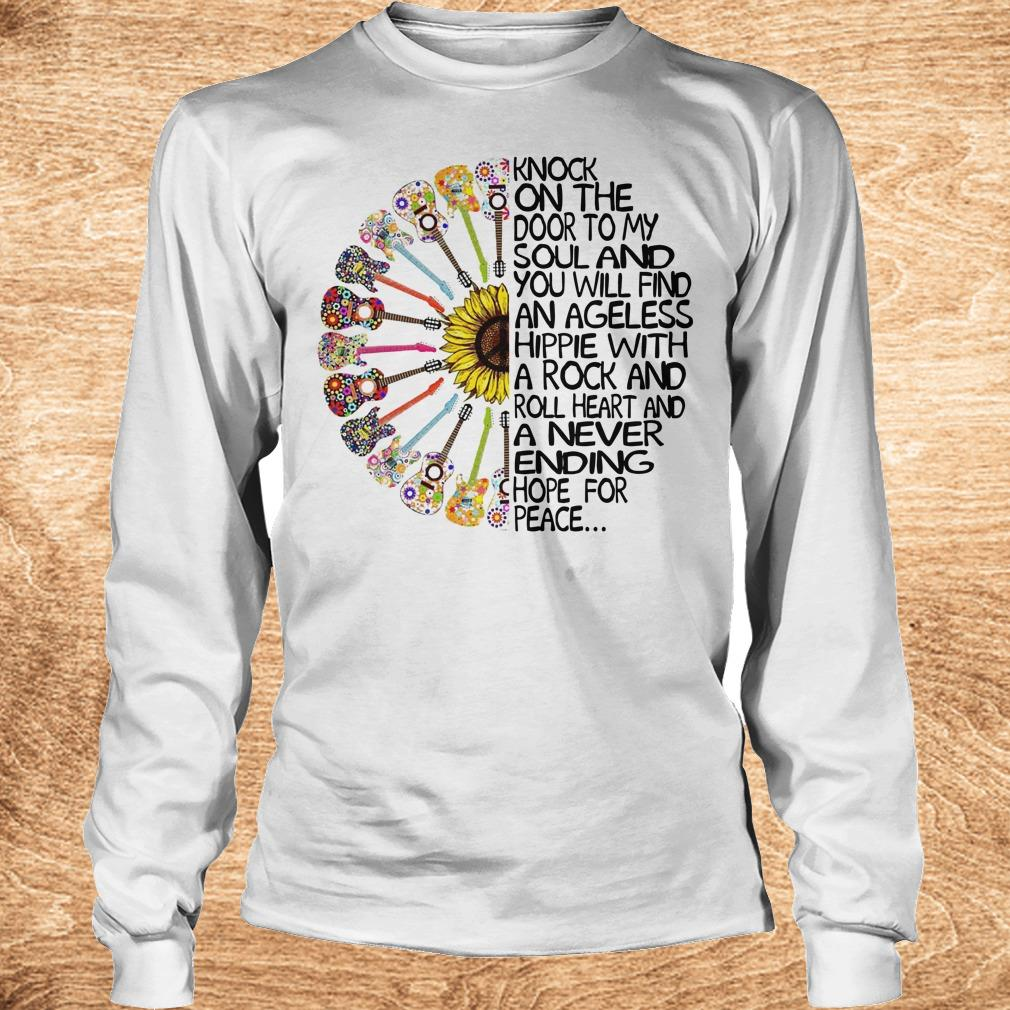 Original Hippie Soul Rock Guitar Knock on the door to my soul and you will find an ageless hippie shirt