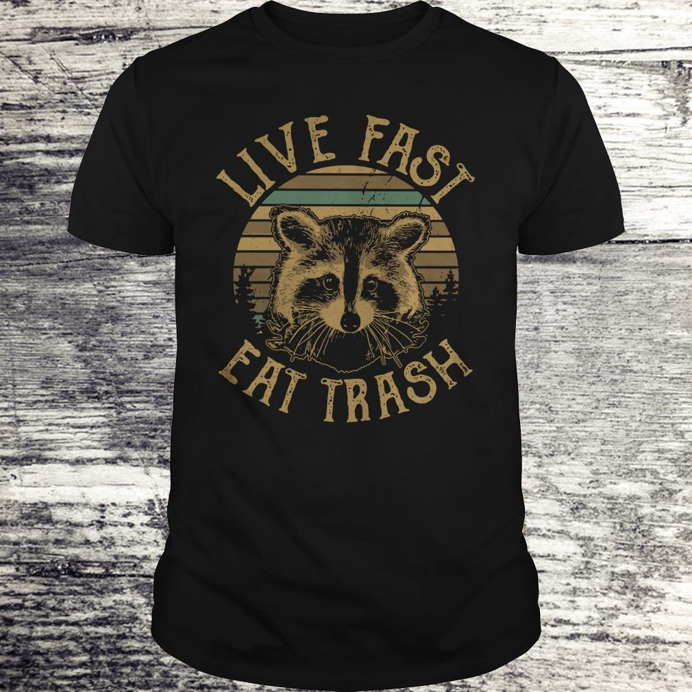 Original Raccoon Sunset Camping Live Fast Eat Trash Shirt Classic Guys Unisex Tee.jpg