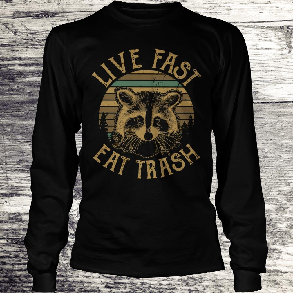 Original Raccoon Sunset Camping Live fast eat trash shirt Longsleeve Tee Unisex
