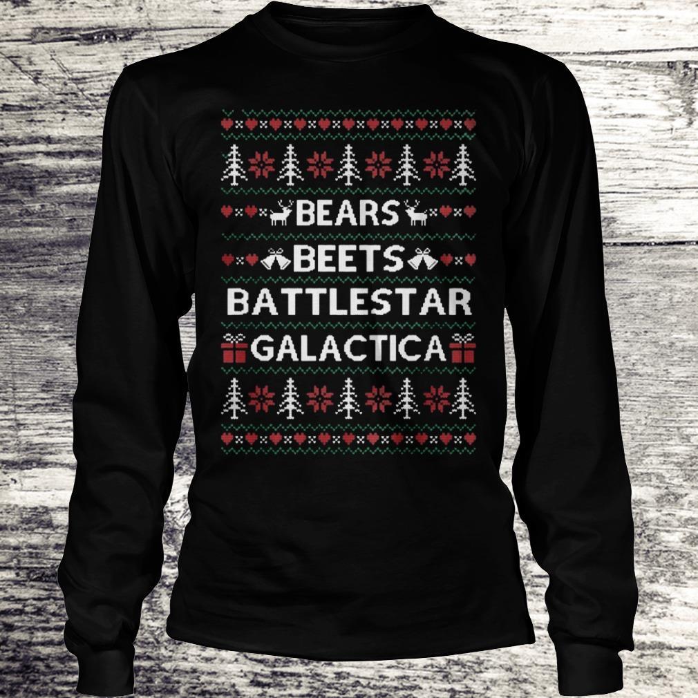 Original The Office tv show Bears Beets Battlestar Galactica shirt Longsleeve Tee Unisex