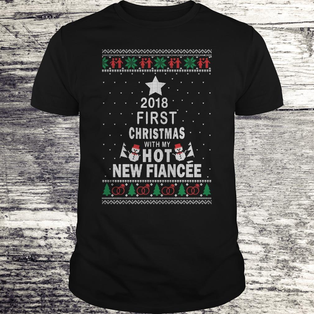 Premium 2018 First christmas with my hot new fiance shirt Classic Guys / Unisex Tee