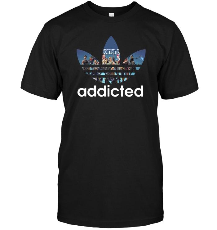 Premium Fortnite Addicted Adidas Guy Tee