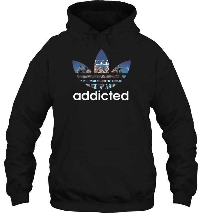 Premium Fortnite Addicted Adidas Hoodie