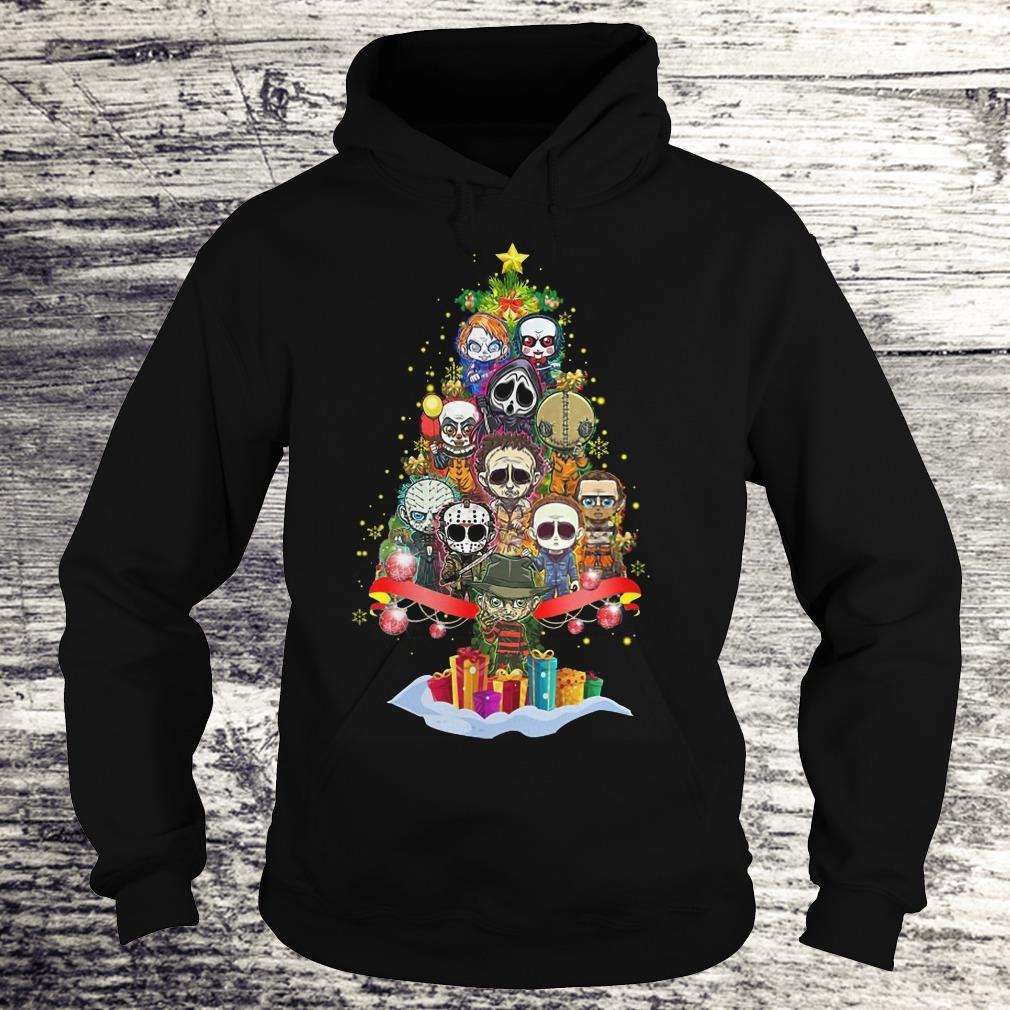 Premium Horror characters nightmare christmas tree shirt