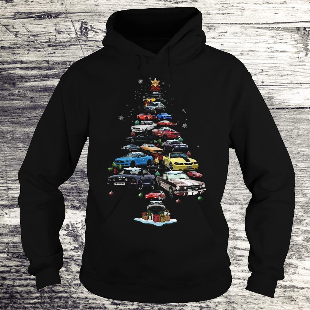 Premium Mustang Car Christmas Tree sweatshirt Hoodie