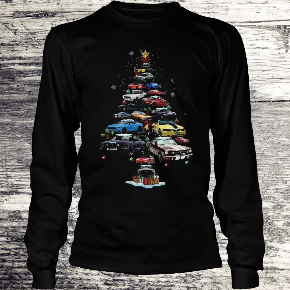 Premium Mustang Car Christmas Tree sweatshirt Longsleeve Tee Unisex