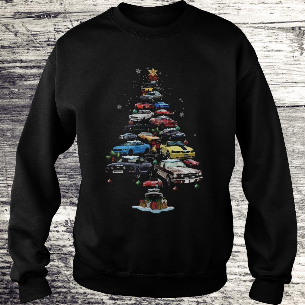 Premium Mustang Car Christmas Tree sweatshirt Sweatshirt Unisex