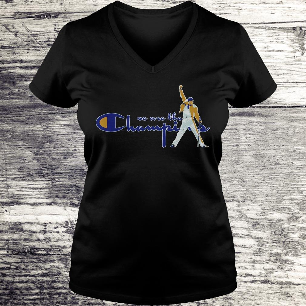 Premium We are the champions Freddie Mercury shirt Ladies V-Neck