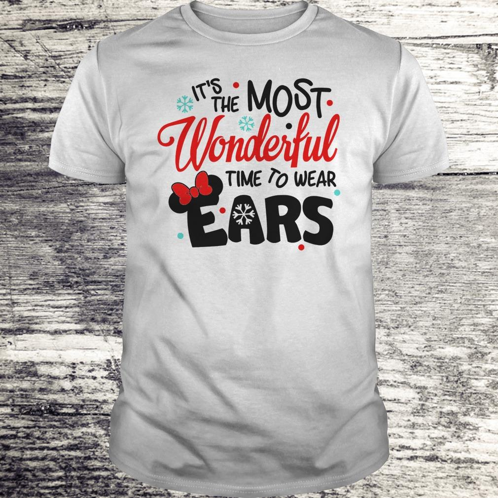 Pretty Disney It's The Most Wonderful Time To Wear Ears shirt Classic Guys / Unisex Tee