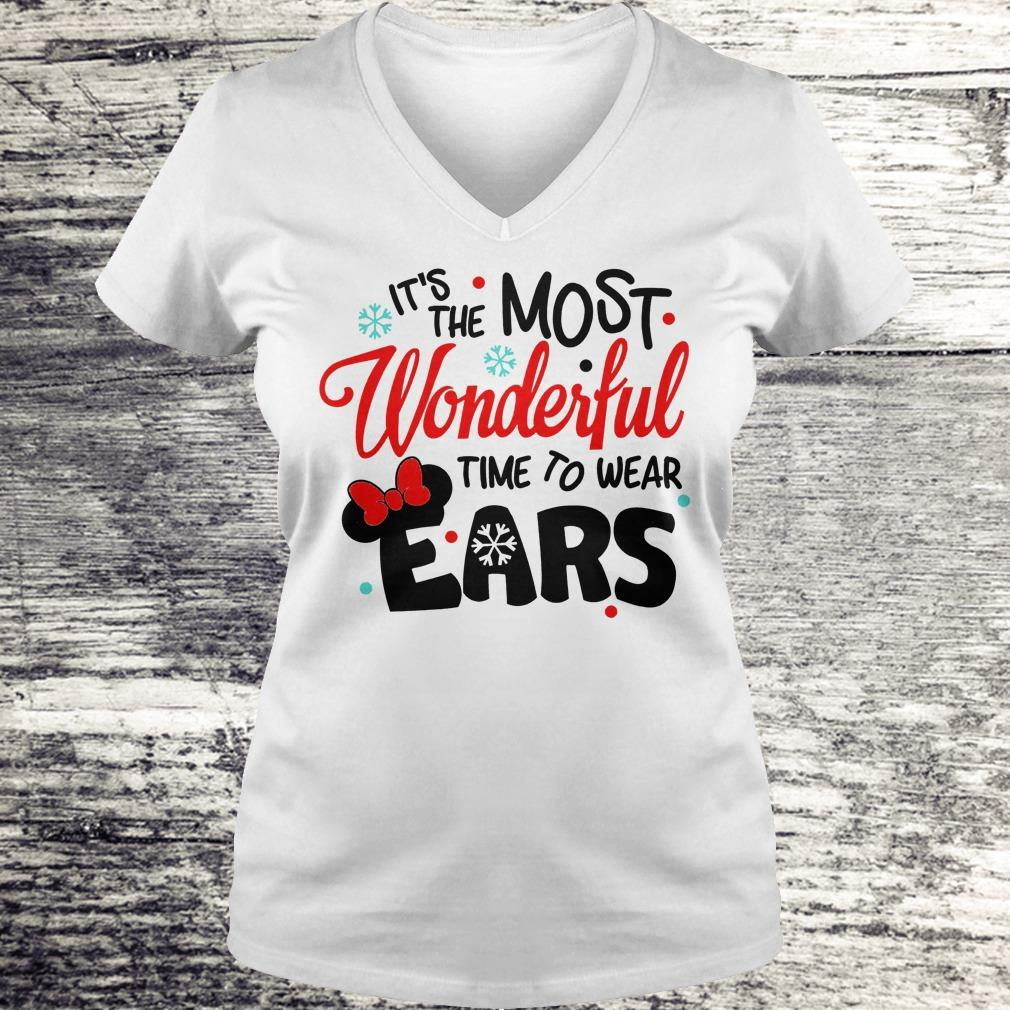 Pretty Disney It's The Most Wonderful Time To Wear Ears shirt Ladies V-Neck