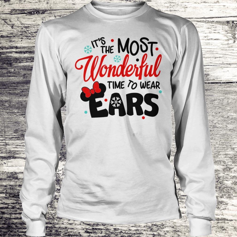 Pretty Disney It's The Most Wonderful Time To Wear Ears shirt Longsleeve Tee Unisex