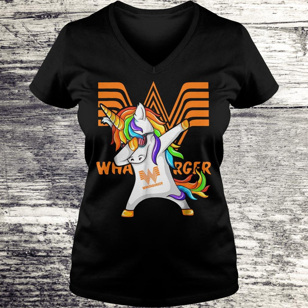Pretty Whataburger Unicorn Dabbing shirt Ladies V-Neck