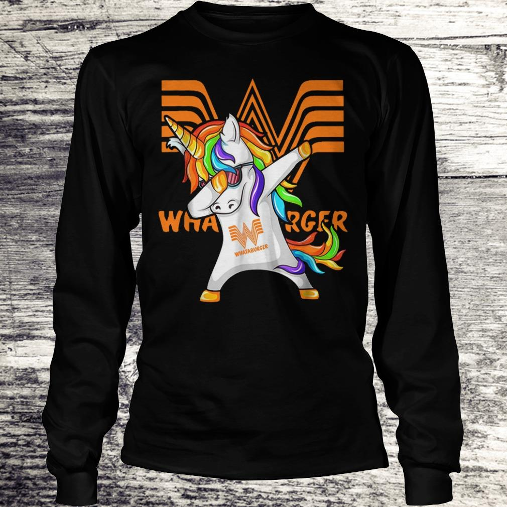 Pretty Whataburger Unicorn Dabbing shirt Longsleeve Tee Unisex