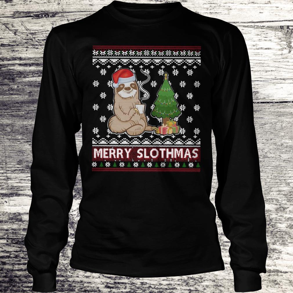 PrettyMerry Slothmas sweater shirt Longsleeve Tee Unisex