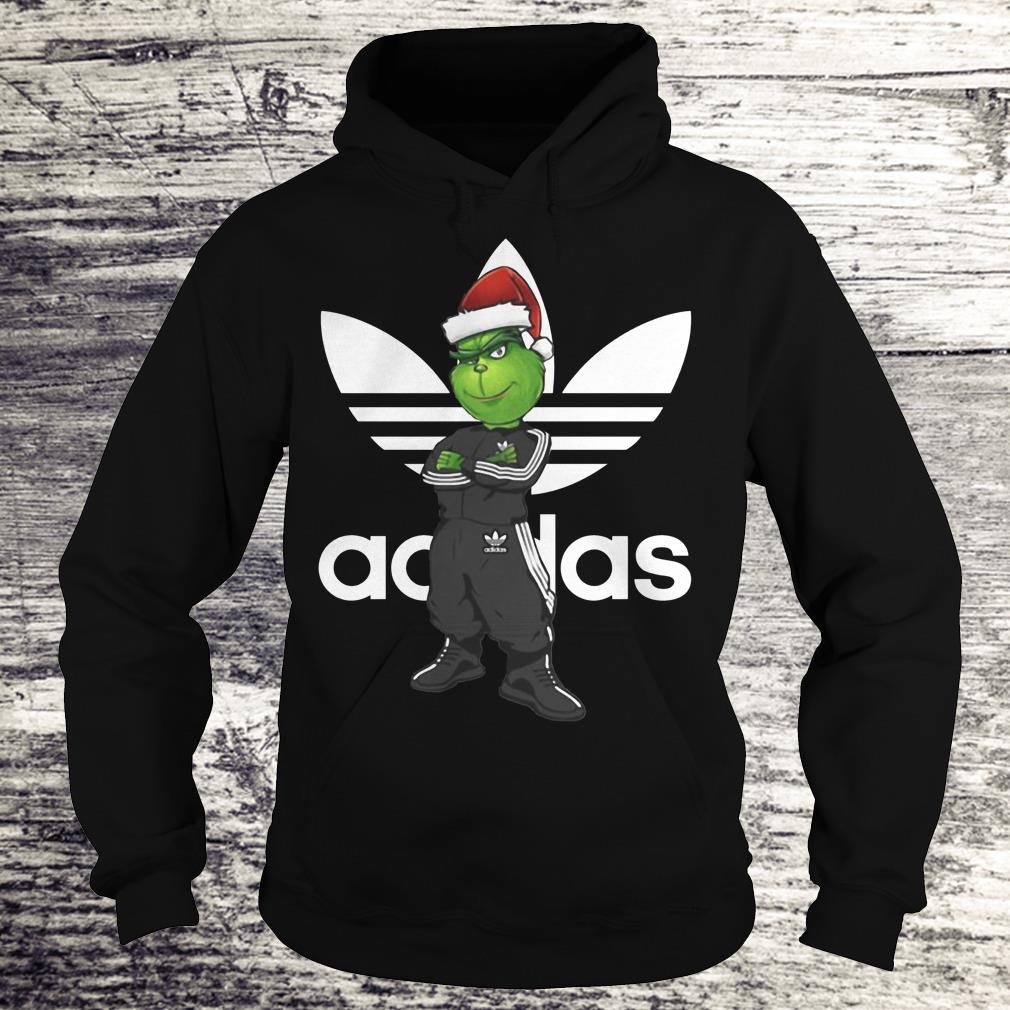 The best Grinch Santa Adidas shirt Hoodie