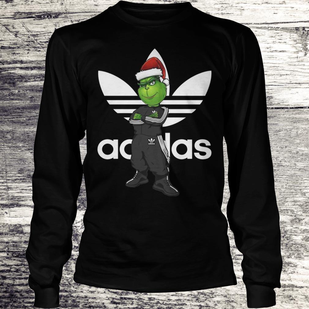 The best Grinch Santa Adidas shirt Longsleeve Tee Unisex