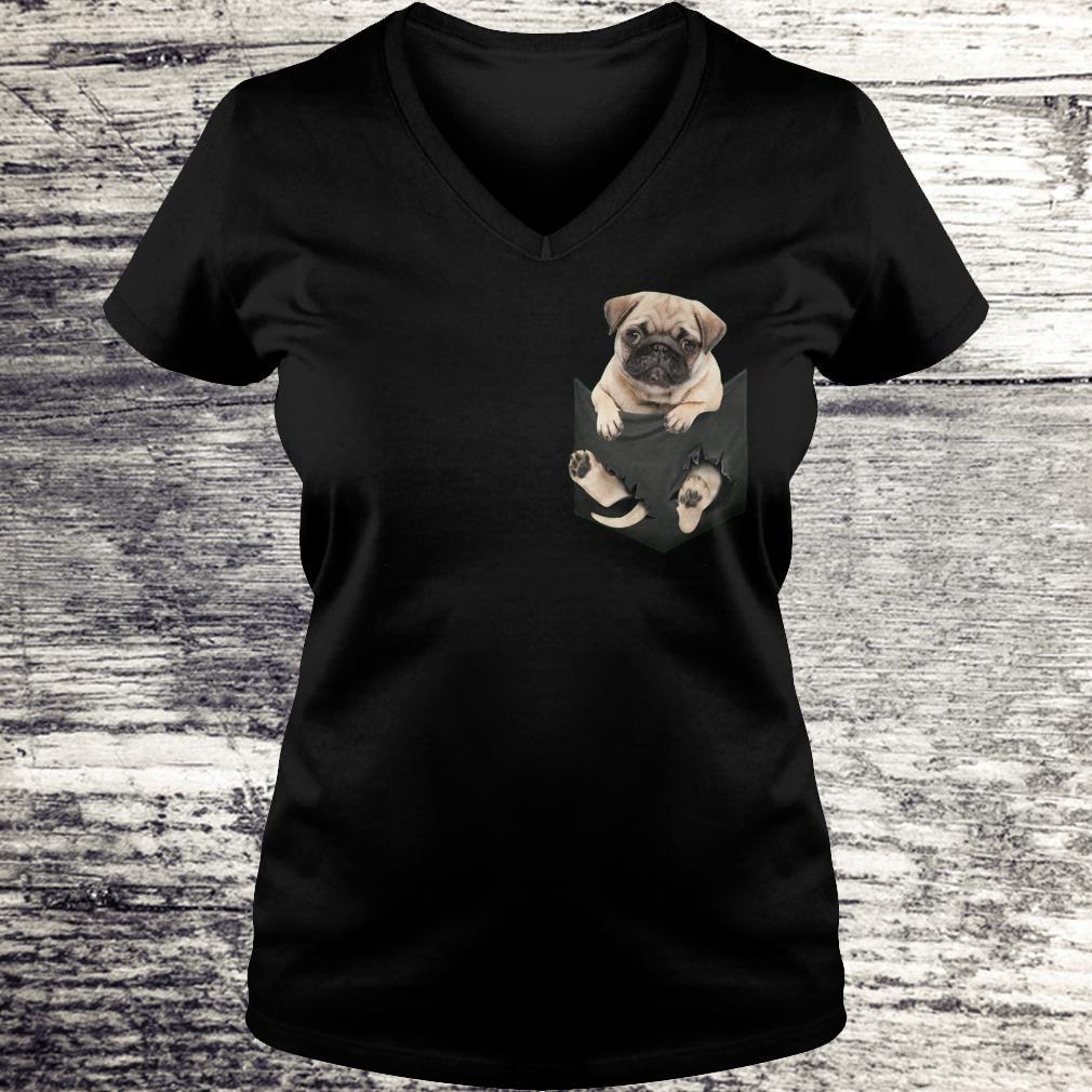 The best Miniature pug In Pocket shirt Ladies V-Neck