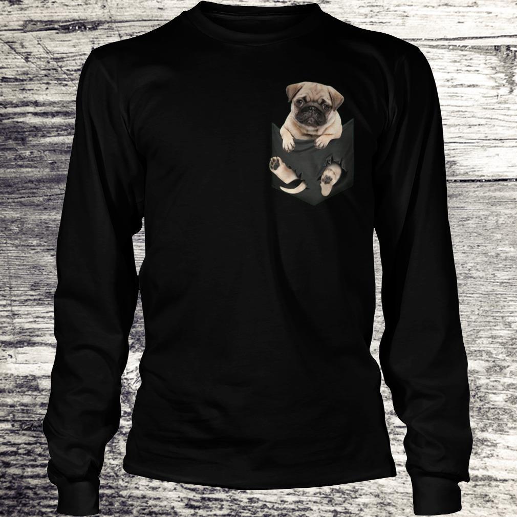 The best Miniature pug In Pocket shirt Longsleeve Tee Unisex