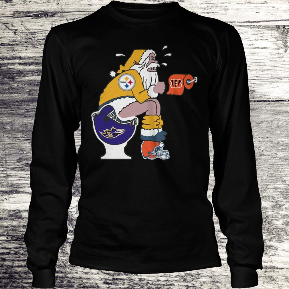 The best Pittsburgh Steelers Santa Baltimore Ravens Toilet shirt Longsleeve Tee Unisex