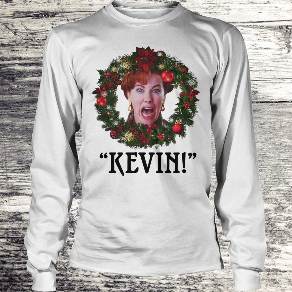 Top Christmas wreath Home alone Kevin scream shirt Longsleeve Tee Unisex