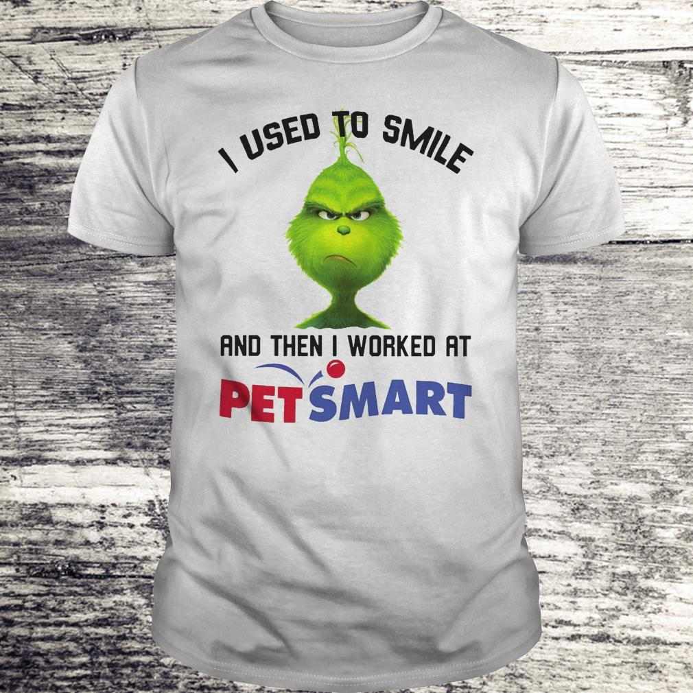 Top Grinch I used to smile and then I worked at PetSmart shirt Classic Guys / Unisex Tee