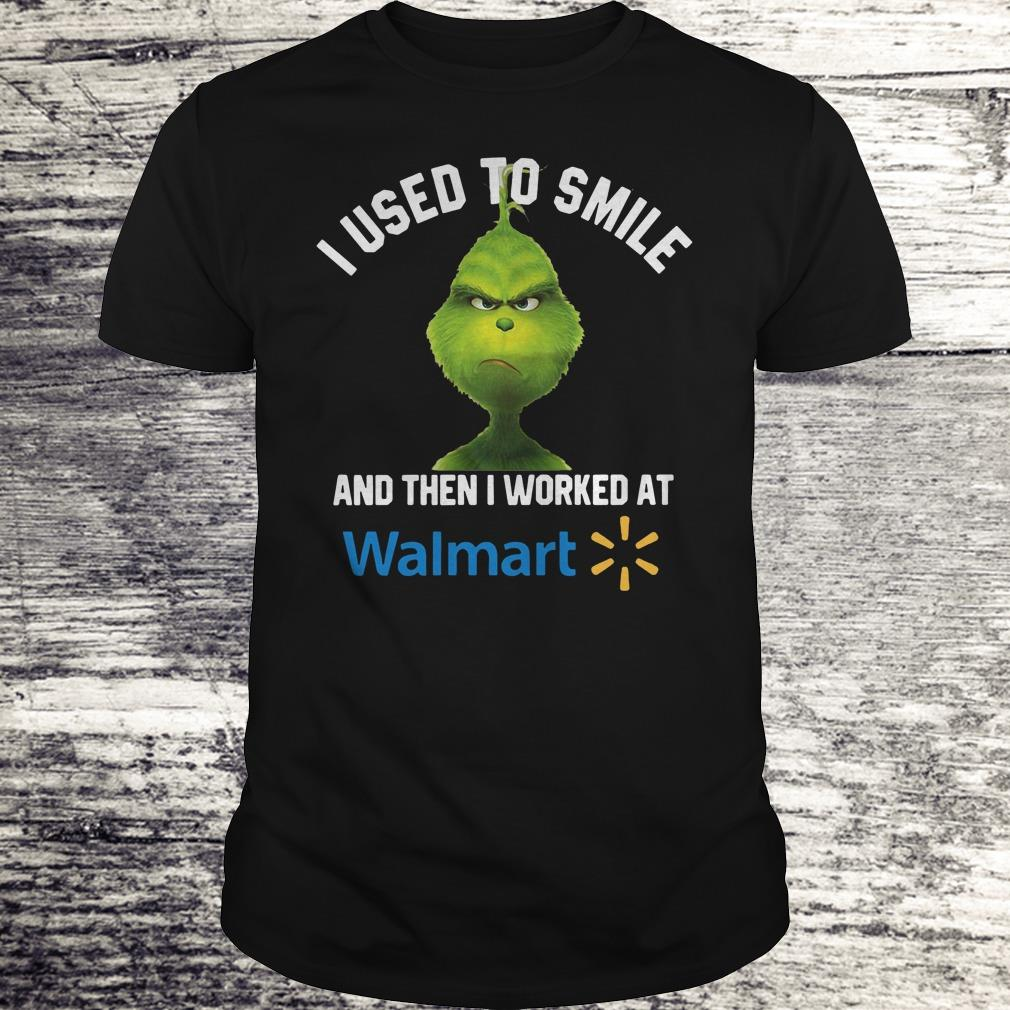 Top Grinch I used to smile and then I worked at Walmart shirt, sweater Classic Guys / Unisex Tee