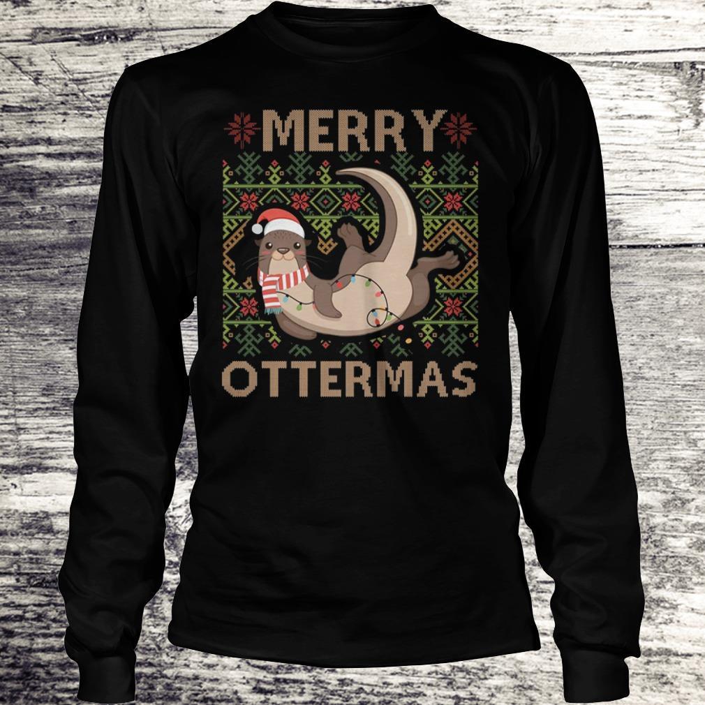 Top Merry Ottermas shirt Longsleeve Tee Unisex