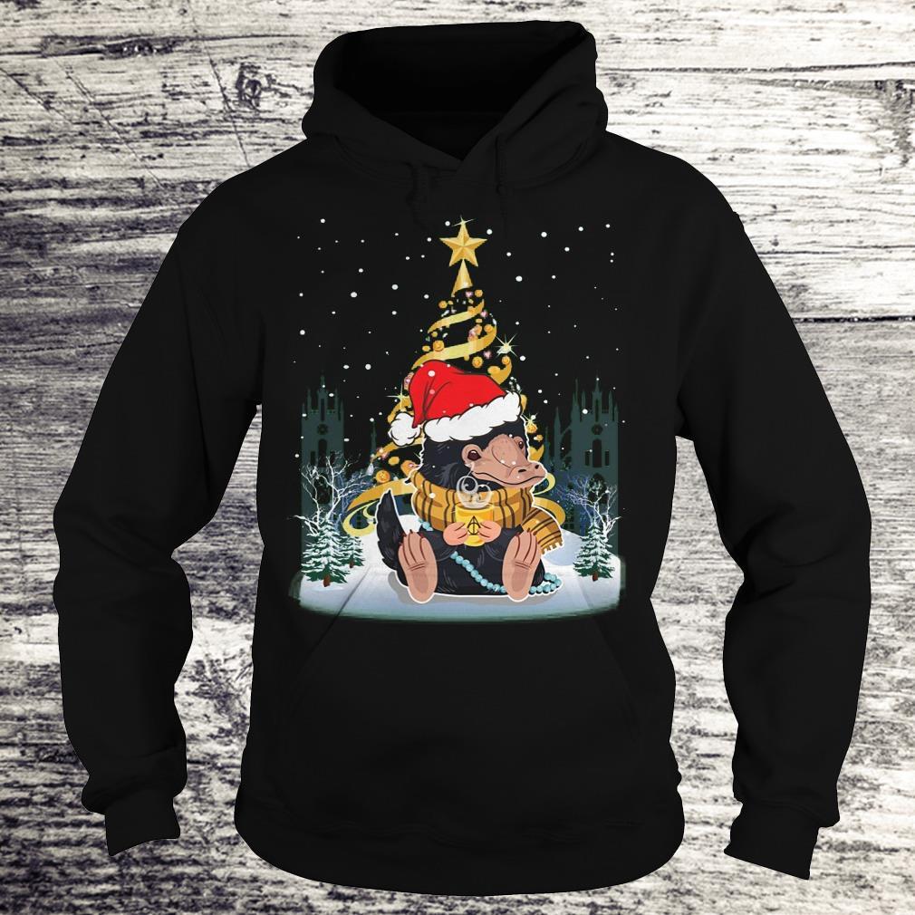 Top Niffler with santa hat gold christmas tree shirt Hoodie