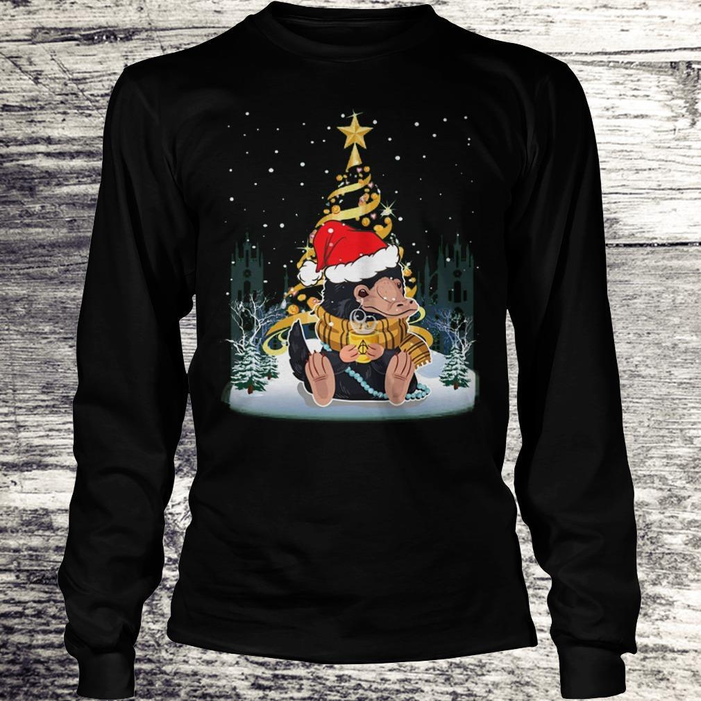 Top Niffler with santa hat gold christmas tree shirt