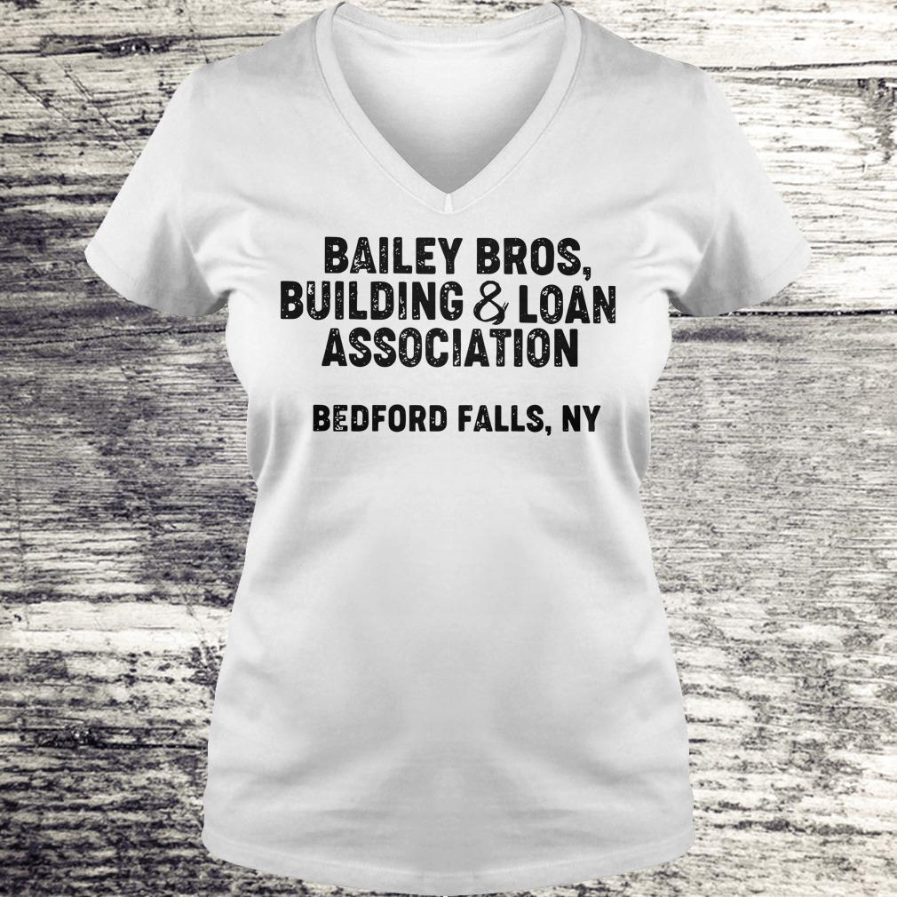 the best Bailey Bros building Loan Association bedford falls, Ny shirt Ladies V-Neck