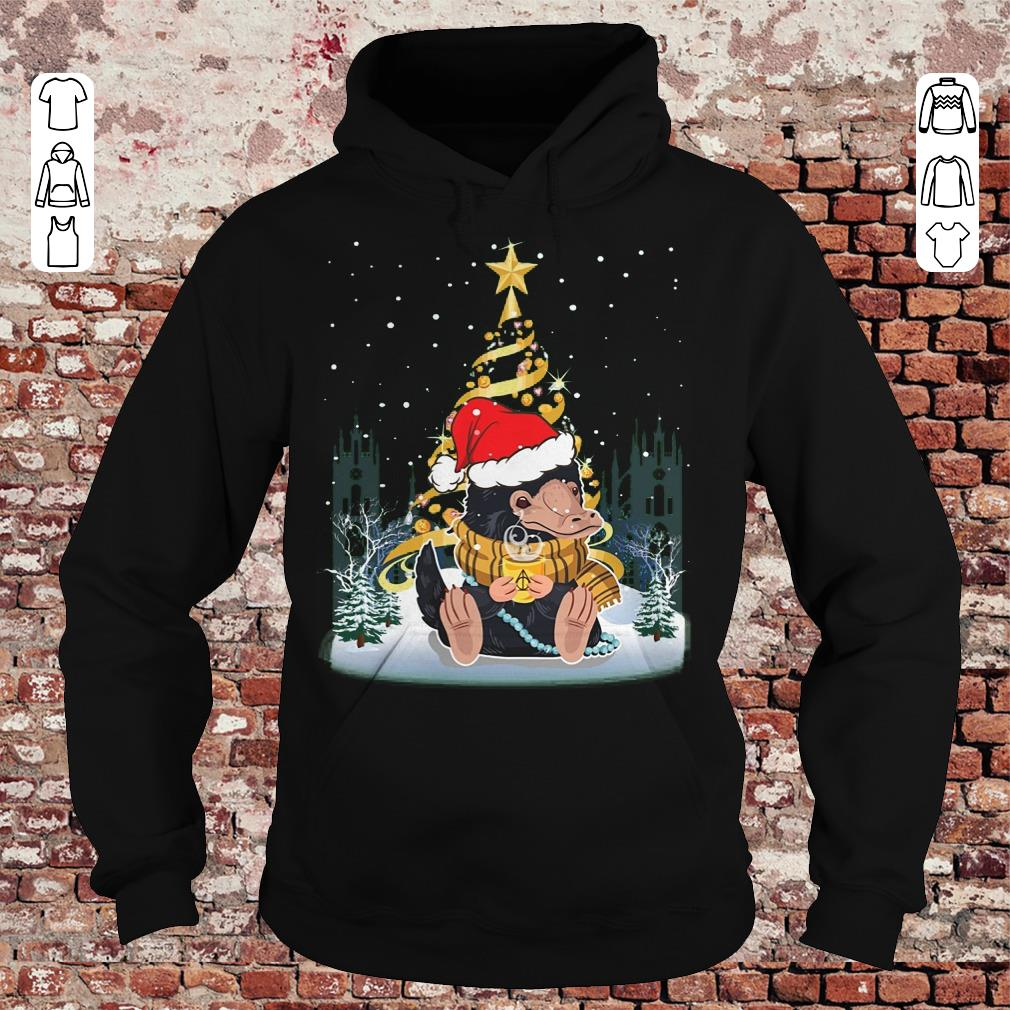 Funny Christmas tree Under Snow Niffler Santa Hat shirt sweater Hoodie