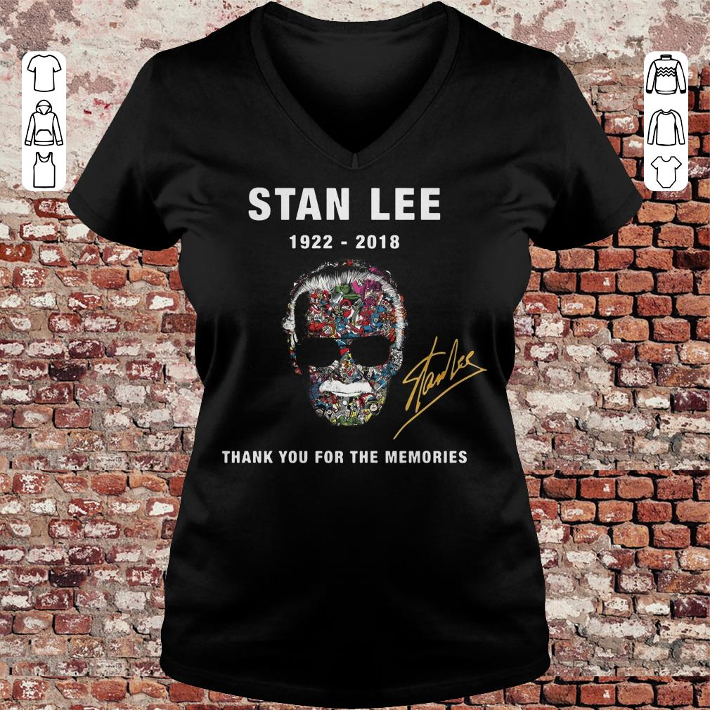 Funny Thank you for the memories Stan Lee Shirt sweatshirt Ladies V-Neck