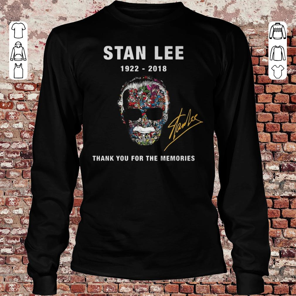 Funny Thank you for the memories Stan Lee Shirt sweatshirt Longsleeve Tee Unisex