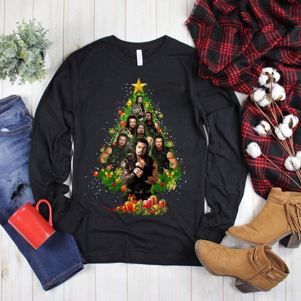 Nice Roman Reigns Christmas Tree shirt
