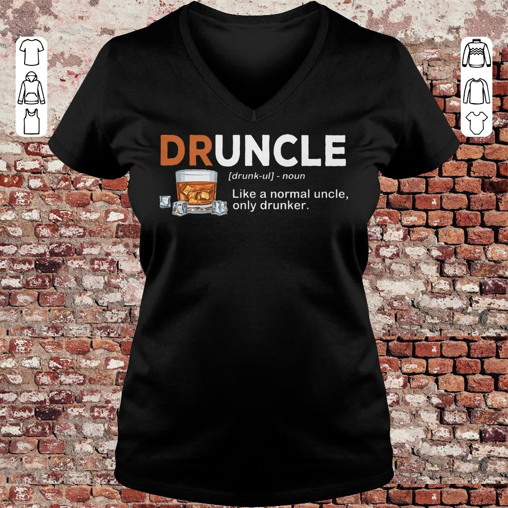 Official Druncle definition Shirt sweater Ladies V-Neck