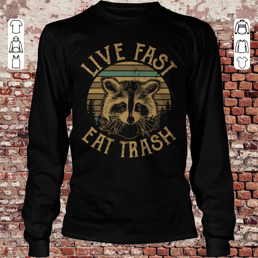 Original Sunset Camping Live fast eat trash Raccoon shirt longsleeve Longsleeve Tee Unisex
