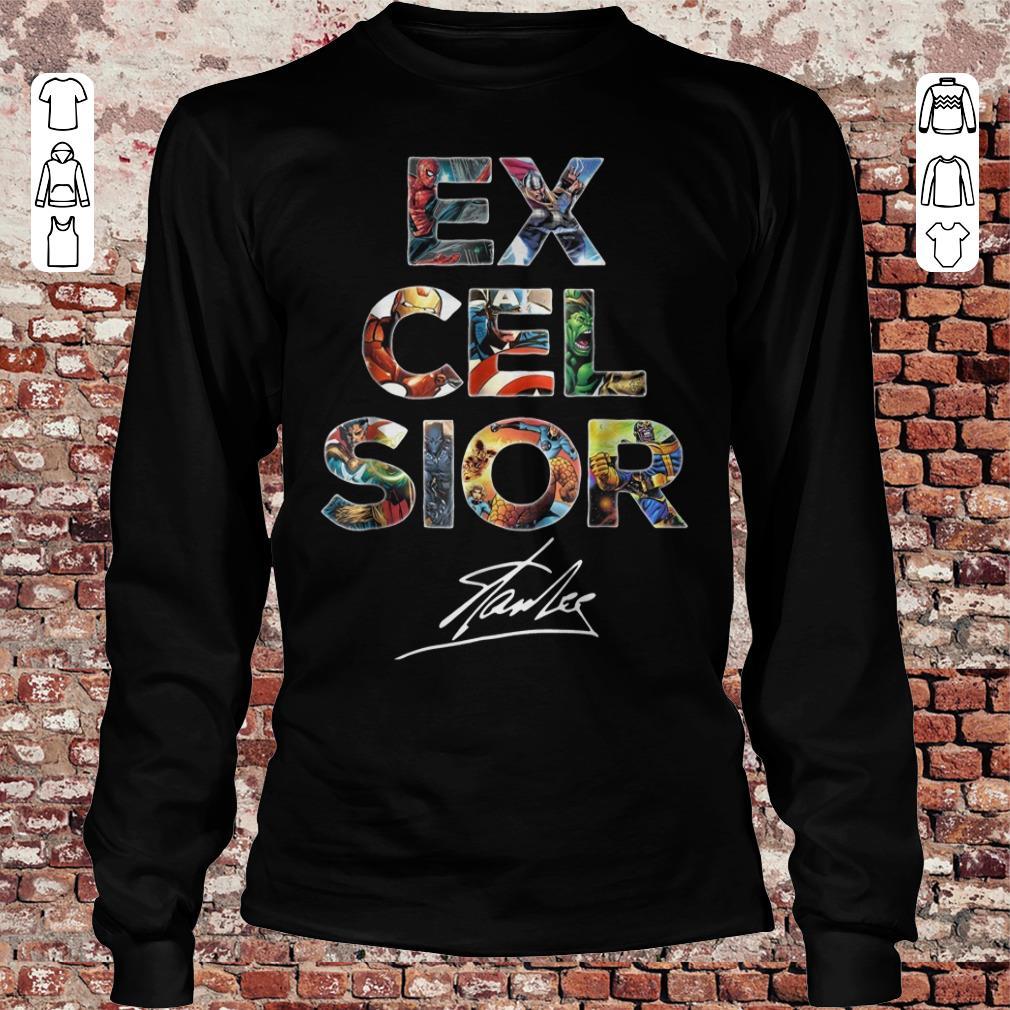 Premium Excelsior Signature Stan Lee shirt sweatshirt Longsleeve Tee Unisex
