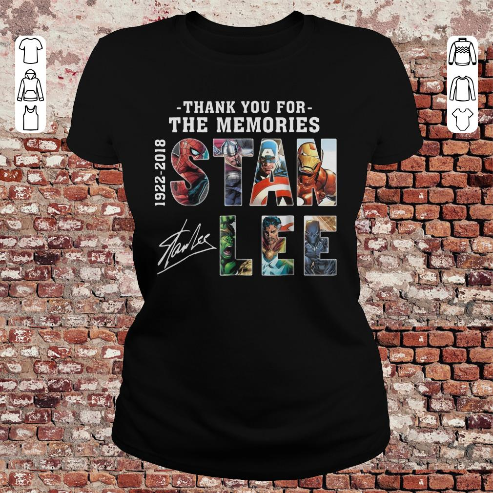 Premium Text Graphic Thank You For The Memories Stan Lee Shirt Sweater Classic Ladies Tee.jpg