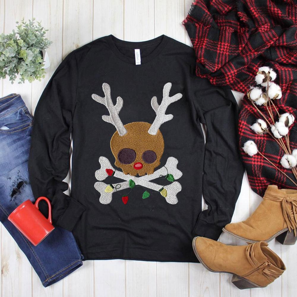 Hot Skull reindeer Jolly Roger shirt