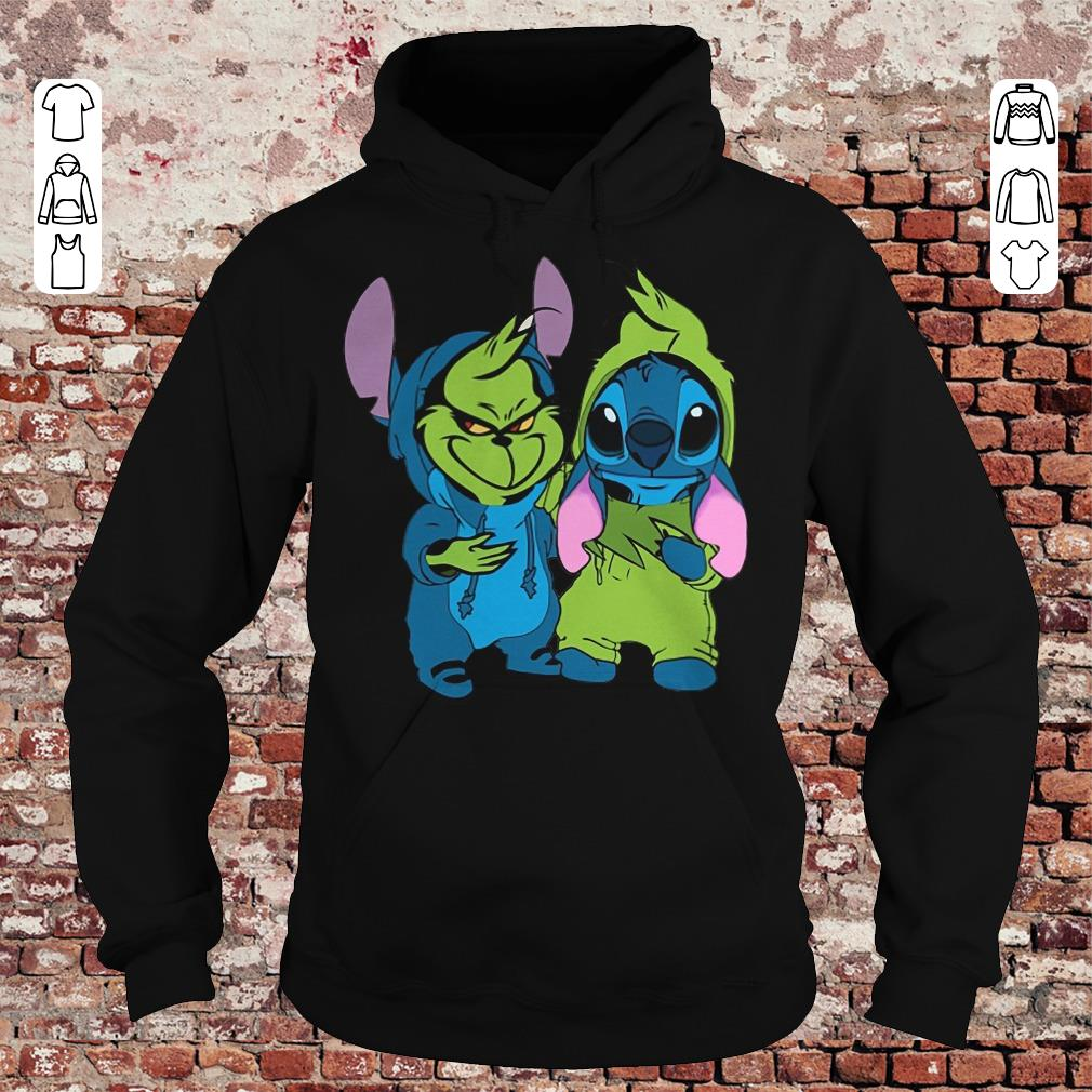 Top Grinch and Stitch shirt hoodie Hoodie