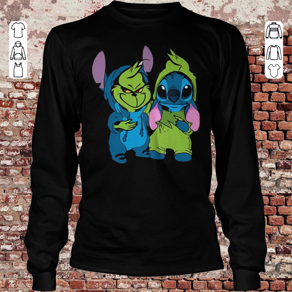 Top Grinch and Stitch shirt hoodie Longsleeve Tee Unisex