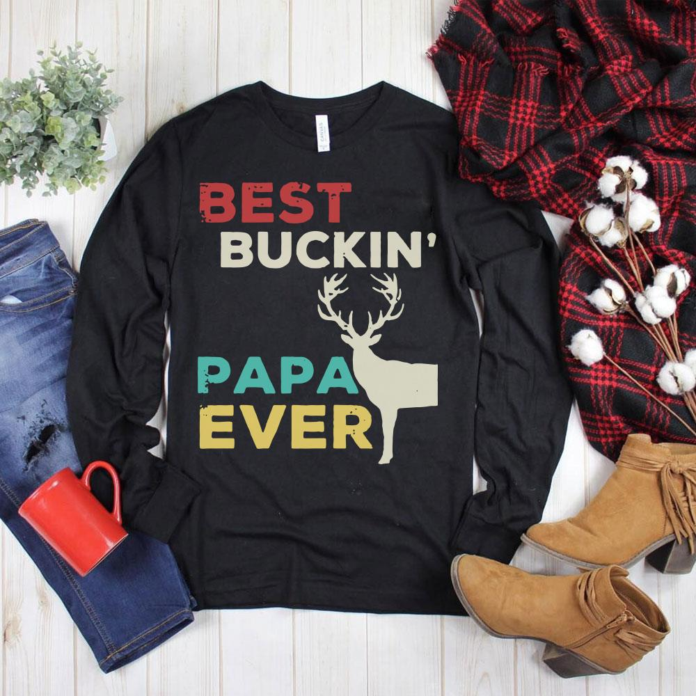 Top Reindeer Best buckin papa ever shirt