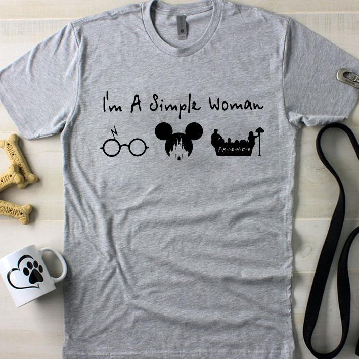Harry Potter, Disney Mickey Mouse and Friends I'm a simple woman I like shirt