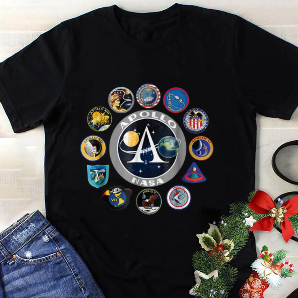 Awesome Apollo Missions Patch Badge NASA shirt