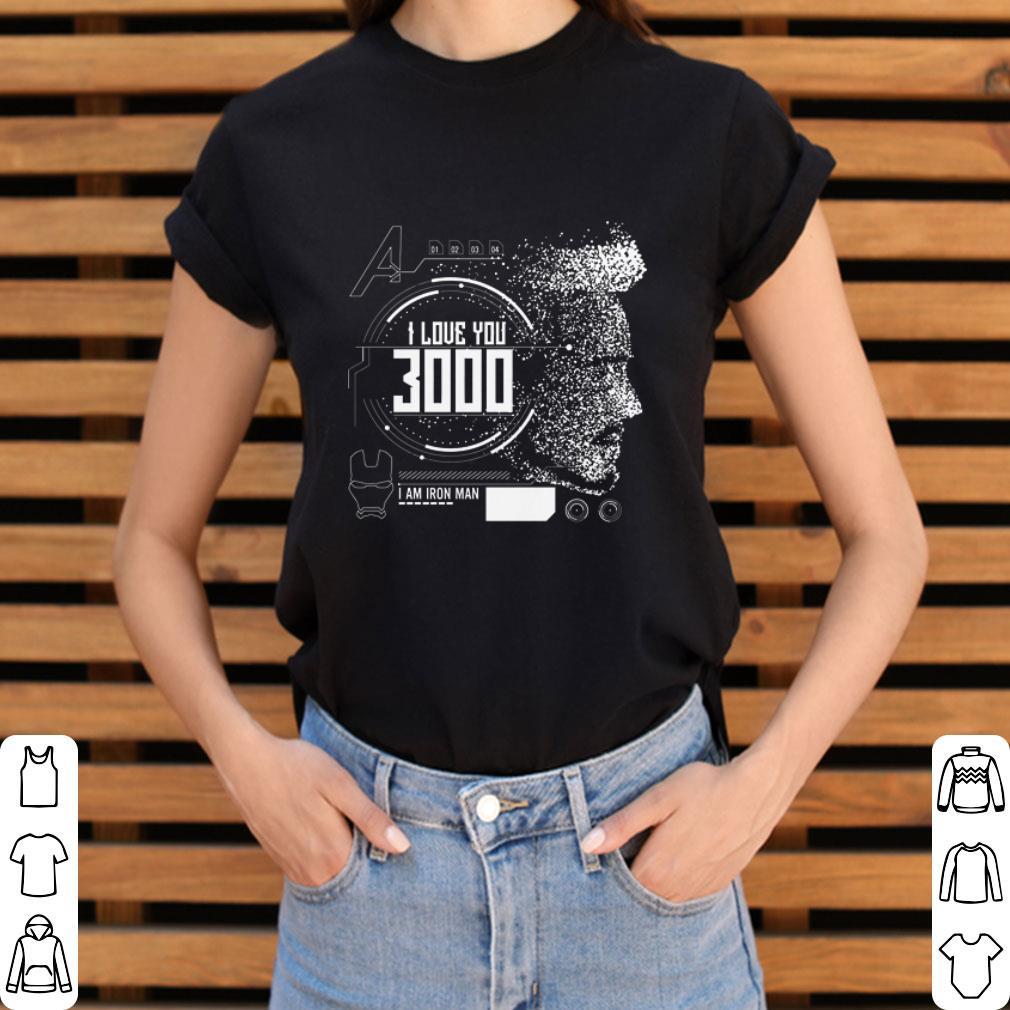 Funny I love you 3000 I am Iron man Marvel shirt