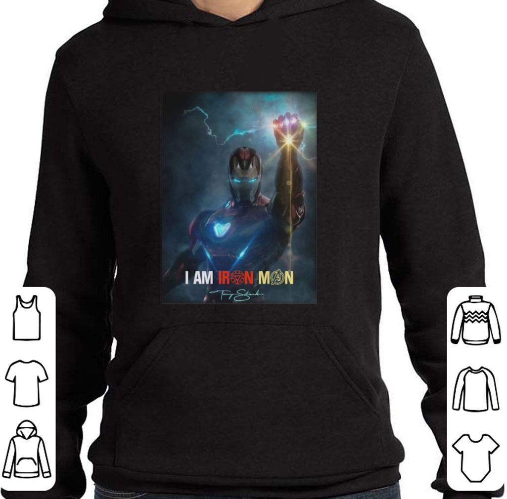 Hot I am Iron Man signature Avengers Endgame potter shirt