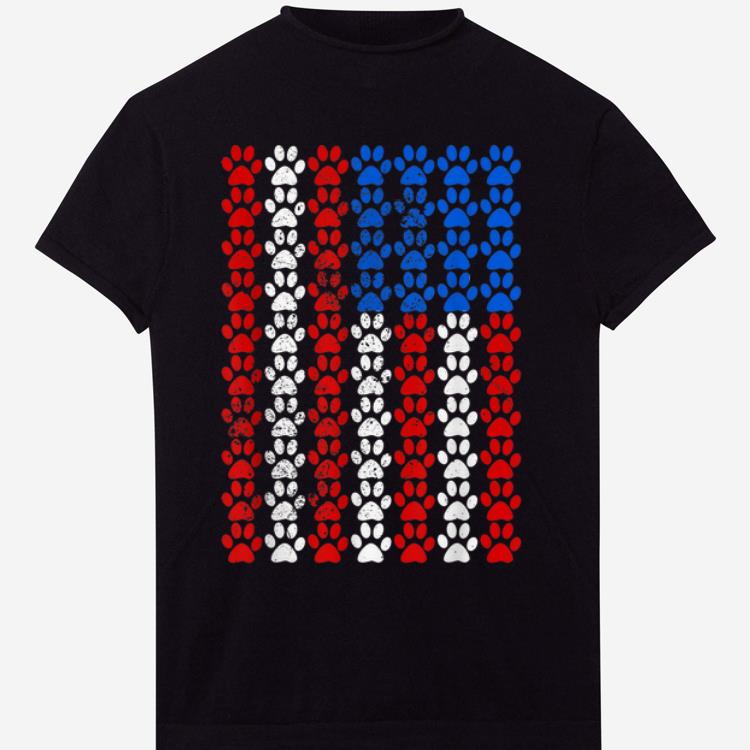 American Flag Dog Paw Pride shirt